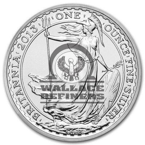 2013 1 oz Lunar Snake Privy British Silver Britannia Coin (BU)