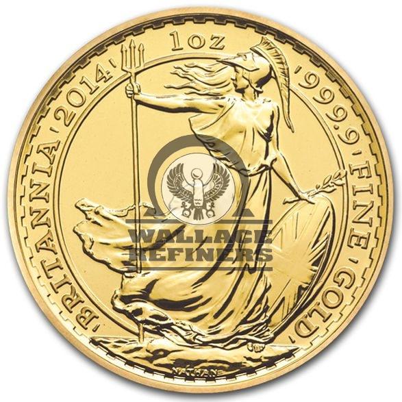 2014 1 oz British Gold Britannia Coin (BU)