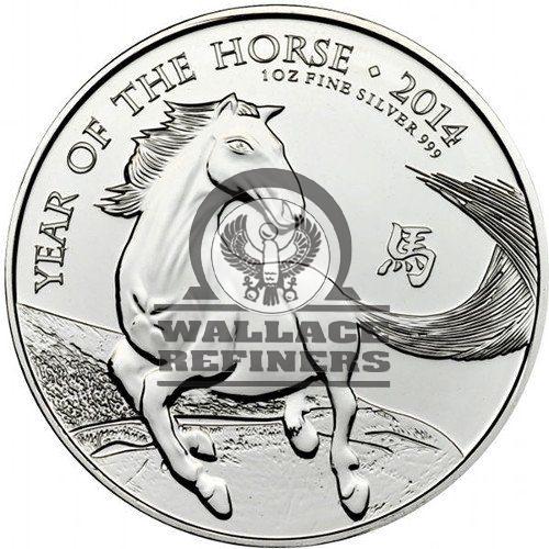 2014 1 oz British Silver Lunar Horse Coin (BU)