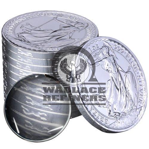 2014 1 oz Lunar Horse Privy British Silver Britannia (BU)