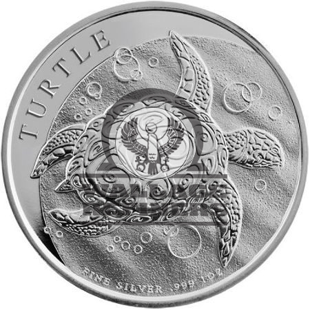 2014 1 oz New Zealand Silver $2 Niue Hawksbill Turtle Coin (BU)