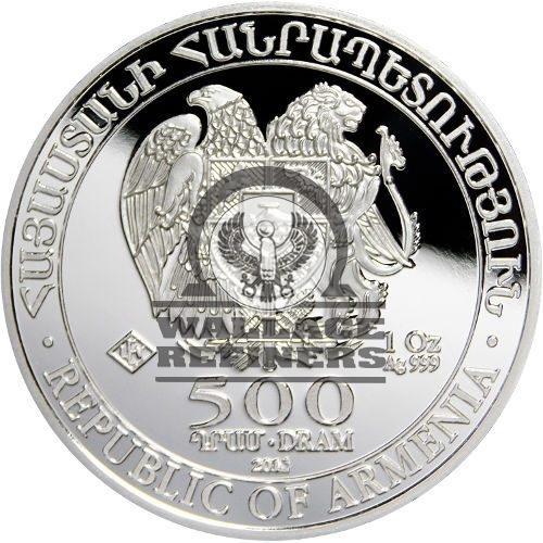 2015 1 oz Armenian Silver Noah's Ark Coin (BU)