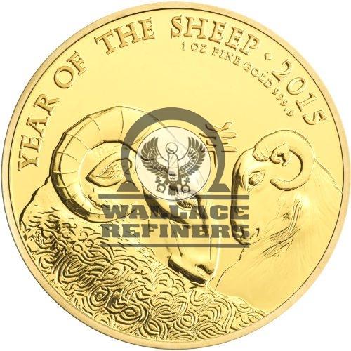 2015 1 oz British Gold Lunar Sheep Coin (BU)
