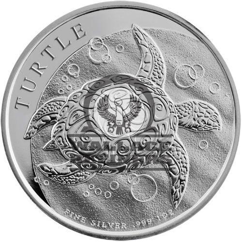 2015 1 oz New Zealand Silver $2 Niue Hawksbill Turtle Coin (BU)