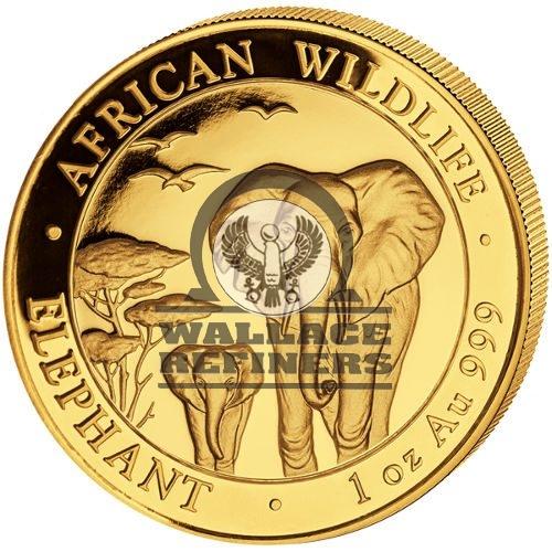 2015 1 oz Somalia Gold Elephant Coin (BU)