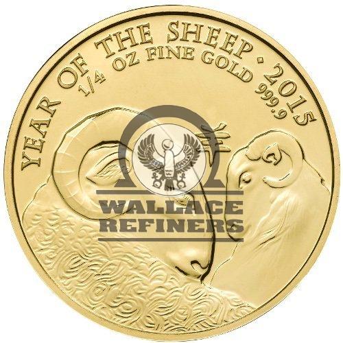 2015 1/4 oz British Gold Lunar Sheep Coin (BU)