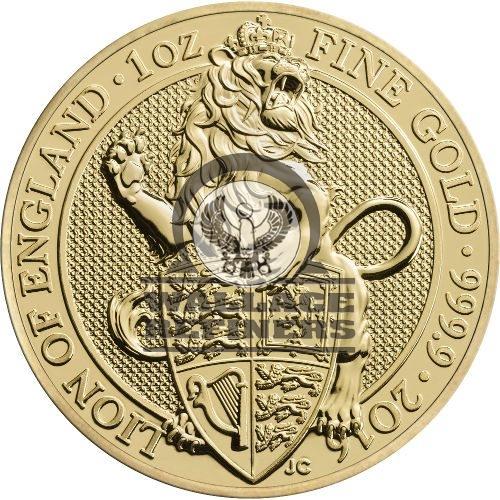 2016 1 oz British Gold Queen's Beast Lion Coin (BU)