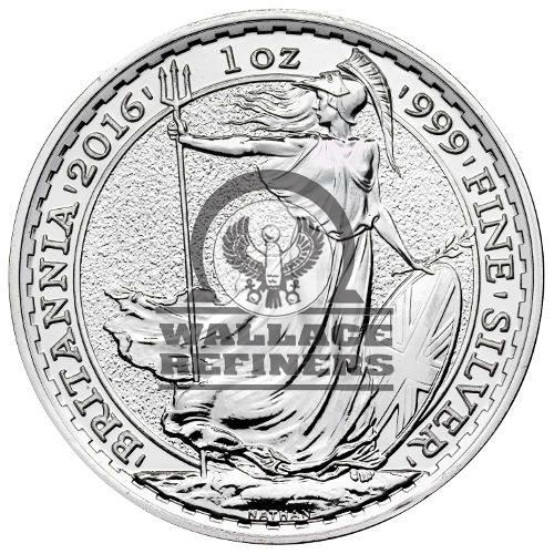 2016 1 oz British Silver Britannia Coin (BU)