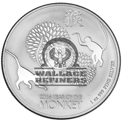 2016 1 oz New Zealand Lunar Monkey Silver Coin (BU)