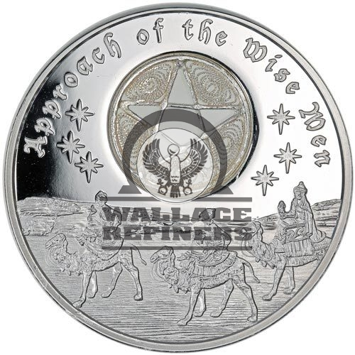 2016 1 oz Niue Silver Approach of the Wise Men 5-Pointed Star Coin (Box + CoA)