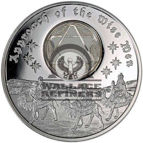 2016 1 oz Niue Silver Approach of the Wise Men 6-Pointed Star Coin (Box + CoA)