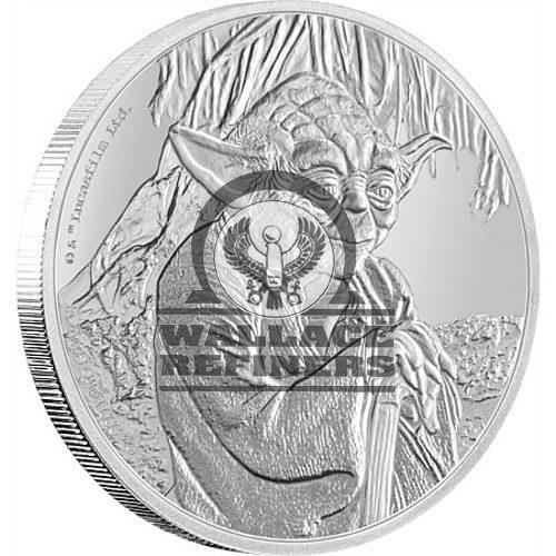 2016 1 oz Niue Silver Star Wars Yoda Coin (Box + CoA)