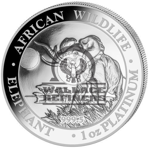 2016 1 oz Somalia Platinum Elephant Proof Coin