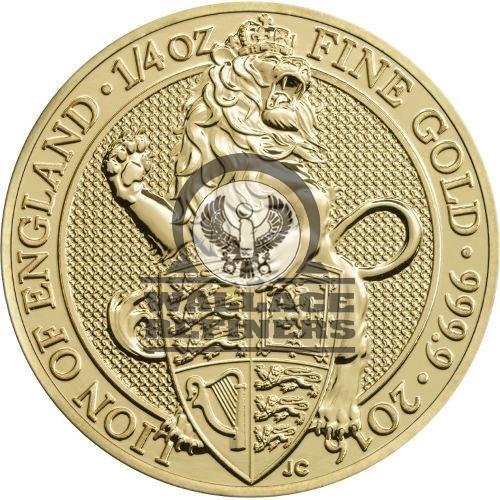 2016 1/4 oz British Gold Queen's Beast Lion Coin (BU)