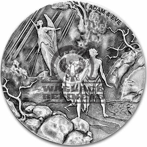 2016 2 oz Adam and Eve Biblical Silver Coin Series (New)