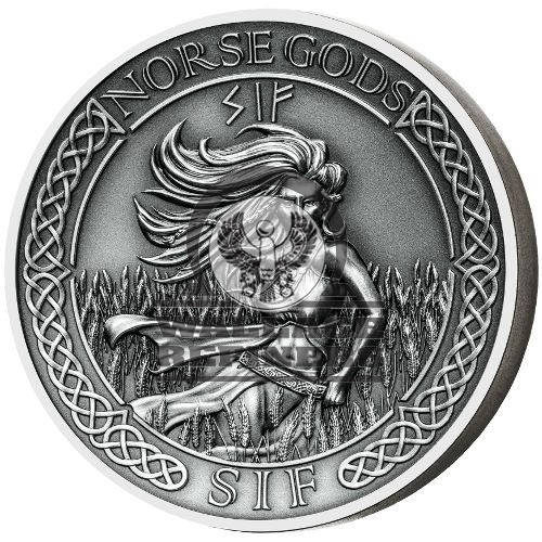 2016 2 oz Cook Islands Silver Norse God Sif Proof Coin (Ultra High Relief)