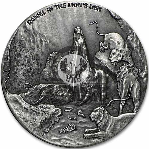2016 2 oz Daniel In the Den Of Lions Biblical Silver Coin Series (New)