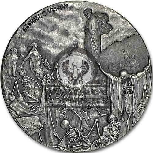 2016 2 oz Ezekiel's Vision of the Valley of Dry Bones Biblical Silver Coin Series (New)