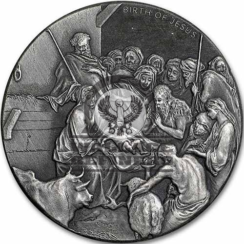 2016 2 oz The Birth Of Jesus Biblical Silver Coin Series (New)