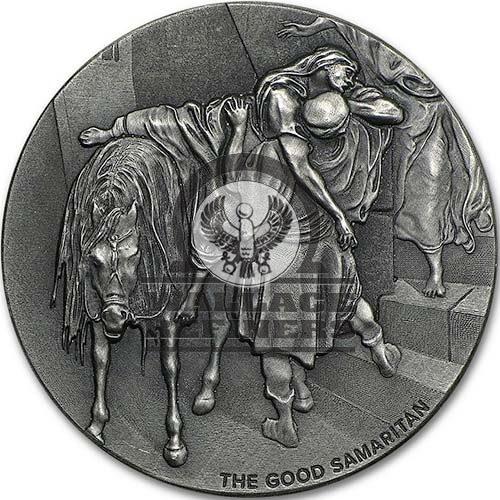 2016 2 oz The Good Samaritan Biblical Silver Coin Series (New)