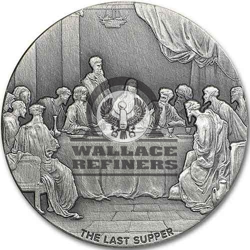 2016 2 oz The Last Supper Biblical Silver Coin Series (New)