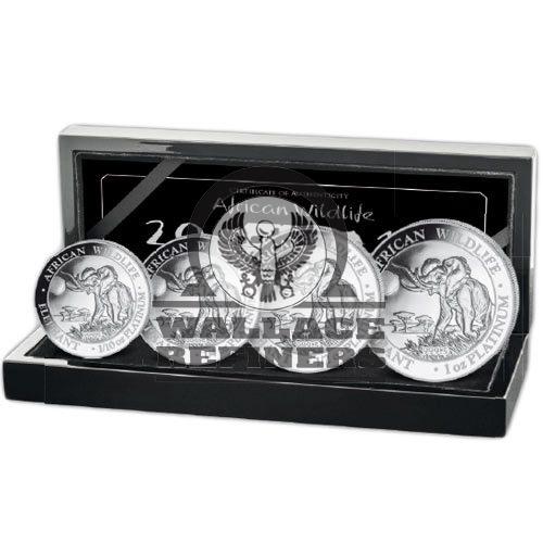 2016 Somalia Platinum Elephant Proof Coin Set (100 Mintage