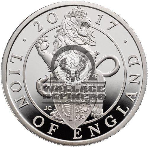 2017 1 Kilo Proof British Silver Queen's Beast Lion Coin (Box + CoA)