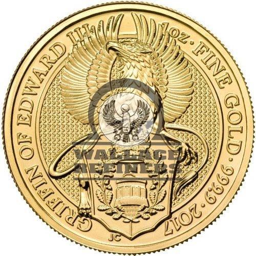 2017 1 oz British Gold Queen's Beast Griffin Coin (BU)
