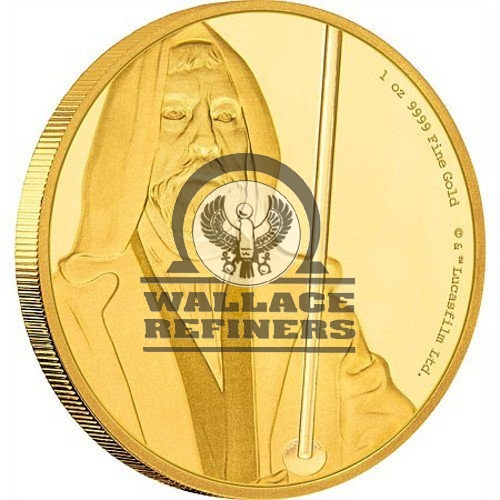 2017 1 oz Niue Gold Star Wars Obi-Wan Kenobi Coin (Box + CoA)
