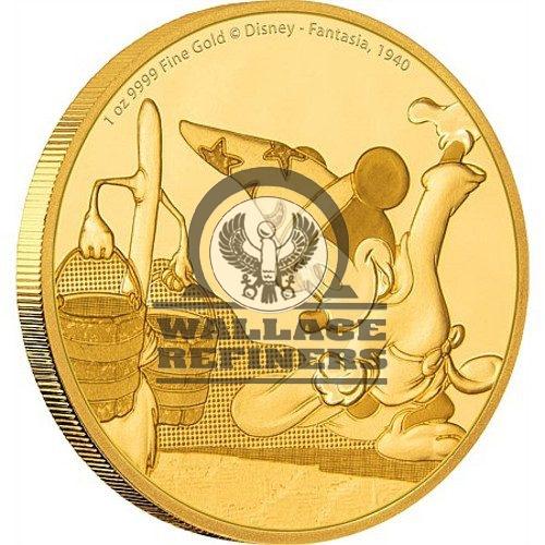 2017 1 oz Niue Mickey Mouse Fantasia Series Gold Proof Coin (Box + CoA)
