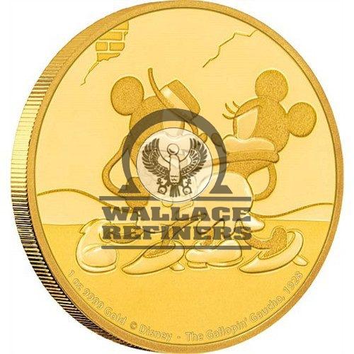 2017 1 oz Niue Mickey Mouse Gallopin' Gaucho Series Gold Proof Coin (Box + CoA)