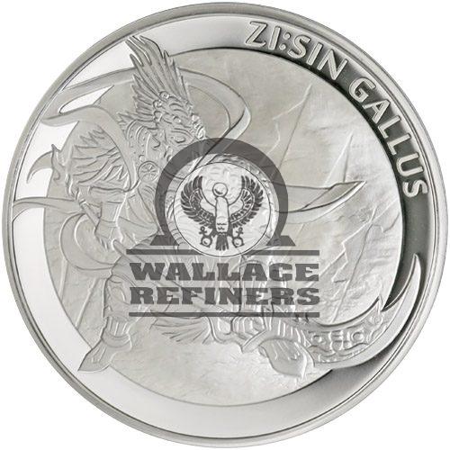 2017 1 oz Proof South Korean Zi:Sin Gallus Silver Medal