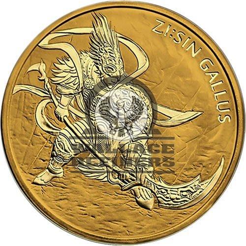 2017 1 oz South Korean Zi:Sin Gallus Gold Medal