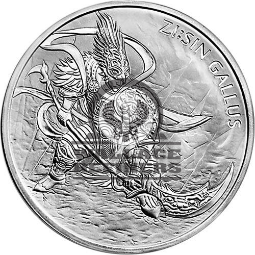 2017 1 oz South Korean Zi:Sin Gallus Silver Medal (BU)