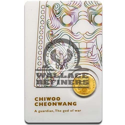 2017 1/10 oz South Korean Chiwoo Cheonwang Gold Medallion (White)