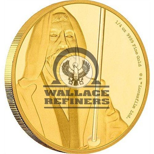 2017 1/4 oz Niue Gold Star Wars Obi-Wan Kenobi Coin (Box + CoA)