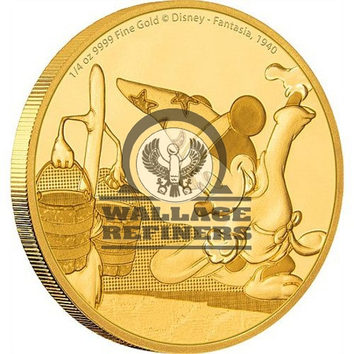 2017 1/4 oz Niue Mickey Mouse Fantasia Series Gold Proof Coin (Box + CoA)