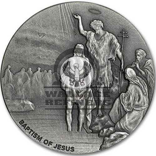 2017 2 oz Baptism Of Jesus Biblical Silver Coin Series (New)