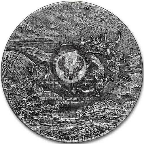 2017 2 oz Jesus Calms The Sea Biblical Silver Coin Series (New)