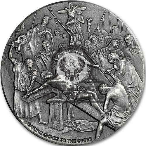 2017 2 oz Nailing Christ to the Cross Biblical Silver Coin Series (New)