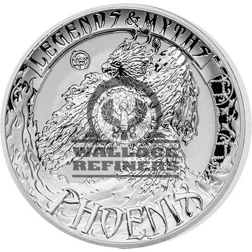 2017 2 oz Reverse Proof Solomon Islands Silver Legends and Myths Phoenix Coin (Box + CoA)