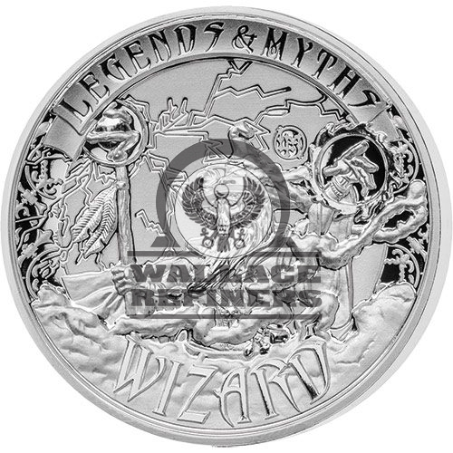 2017 2 oz Reverse Proof Solomon Islands Silver Legends and Myths Wizard Coin (Box + CoA)
