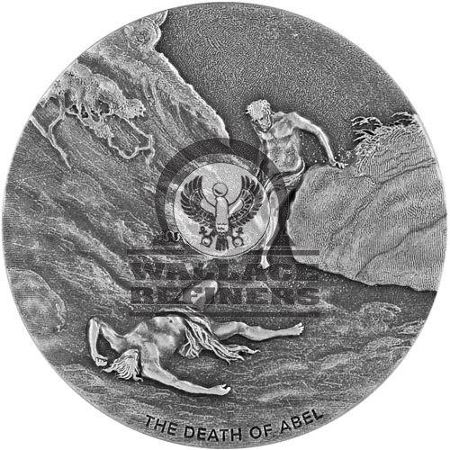 2017 2 oz The Death of Abel Biblical Silver Coin Series (New)