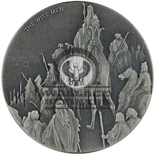 2017 2 oz The Wise Men Biblical Silver Coin Series (New)