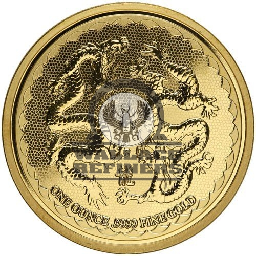 2018 1 oz Niue Gold Double Dragon Coin (BU)