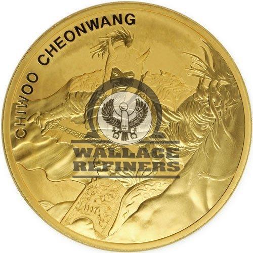 2018 1 oz South Korean Gold Chiwoo Cheonwang (BU)