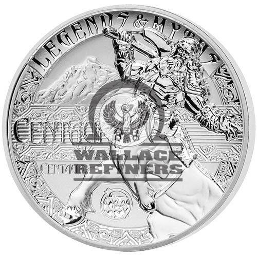 2018 2 oz Reverse Proof Solomon Islands Silver Legends and Myths Centaur Coin (Box + CoA)