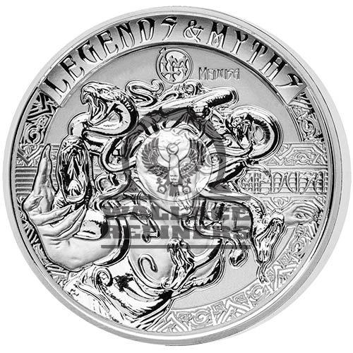 2018 2 oz Reverse Proof Solomon Islands Silver Legends and Myths Medusa Coin (Box + CoA)