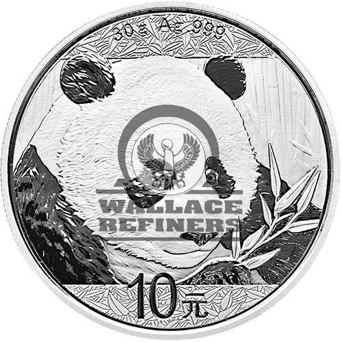 2018 30 Gram Chinese Silver Panda Coin (BU)