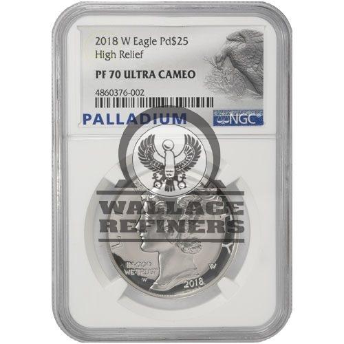 2018-W 1 oz Proof American Palladium Eagle Coin NGC PF70